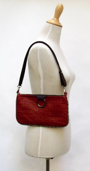 Pochette mit Ring in Croco Mix multi